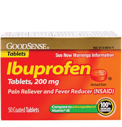 GoodSense® Ibuprofen Tablets, 200 mg (Orange Coated) Image