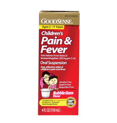 GoodSense® Children's Pain & Fever, Bubble Gum Flavor Image