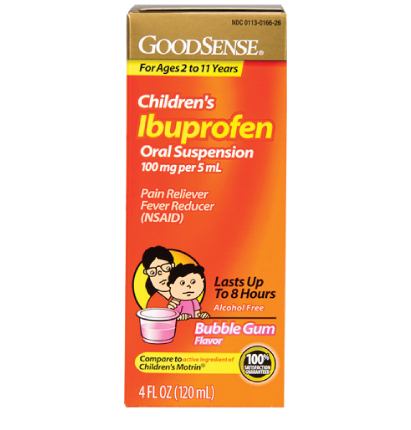 GoodSense® Children's Ibuprofen Oral Suspension 100 mg per 5 mL, Bubble Gum Flavor Image