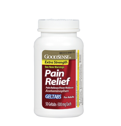 GoodSense®  Extra Strength Pain Relief Geltabs Image