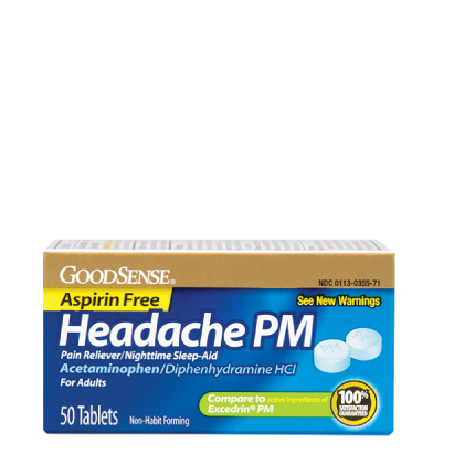 GoodSense® Headache PM Coated Tablets Image