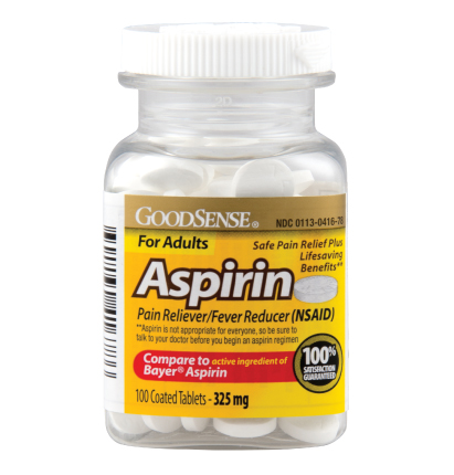 GoodSense® Coated Aspirin Tablets Image