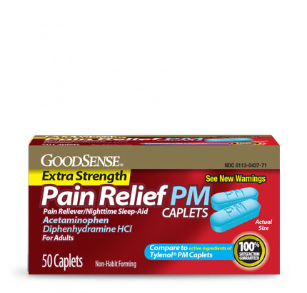 GoodSense® Pain Relief PM Caplets Image