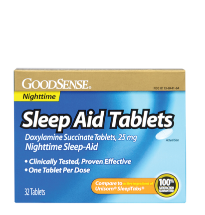 GoodSense® Sleep Aid Tablets, Doxylamine Succinate, 25 mg Image