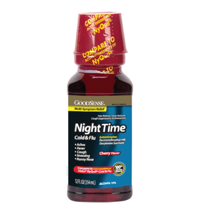 GoodSense® NightTime Cold & Flu Relief Image