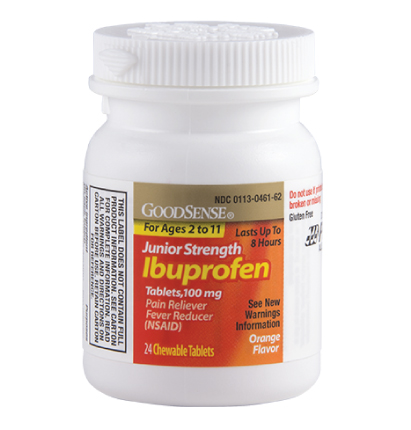 GoodSense® Junior Strength Ibuprofen Tablets, 100 mg, Orange Flavor Image