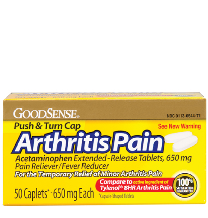 GoodSense® Arthritis Pain, Acetaminophen Extended-Release Tablets, 650 mg Image