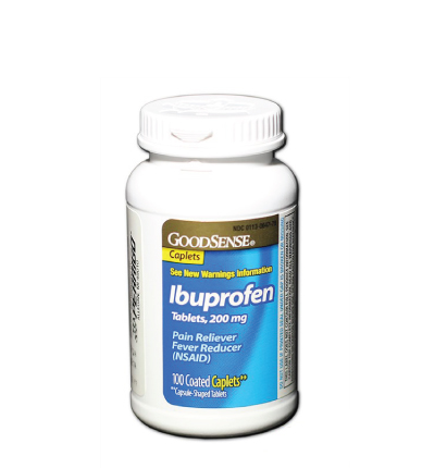 GoodSense® Ibuprofen Tablets, 200 mg (Capsule-Shaped Tablets) Image