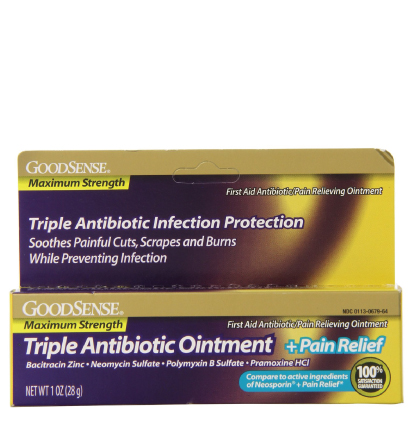 GoodSense® Triple Antibiotic Ointment + Pain Relief, Maximum Strength Image