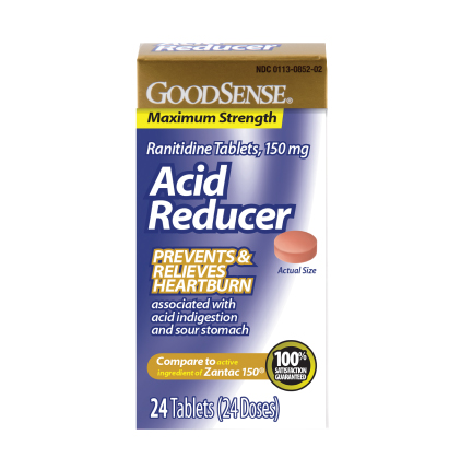 GoodSense® Acid Reducer, Ranitidine Tablets, 150 mg Image