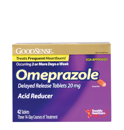 GoodSense® Omeprazole Delayed Release Tablets 20 mg Image